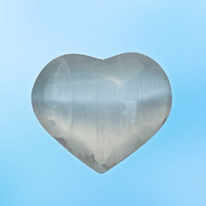 Selenite Meditation Heart